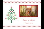 Sapin en point de croix Carte Postale - gabarit prédéfini. <br/>Utilisez notre logiciel Avery Design & Print Online pour personnaliser facilement la conception.
