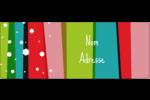 Rayures de Noël rétro Étiquettes D'Adresse - gabarit prédéfini. <br/>Utilisez notre logiciel Avery Design & Print Online pour personnaliser facilement la conception.