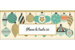 Motif de décorations Affichette - gabarit prédéfini. <br/>Utilisez notre logiciel Avery Design & Print Online pour personnaliser facilement la conception.