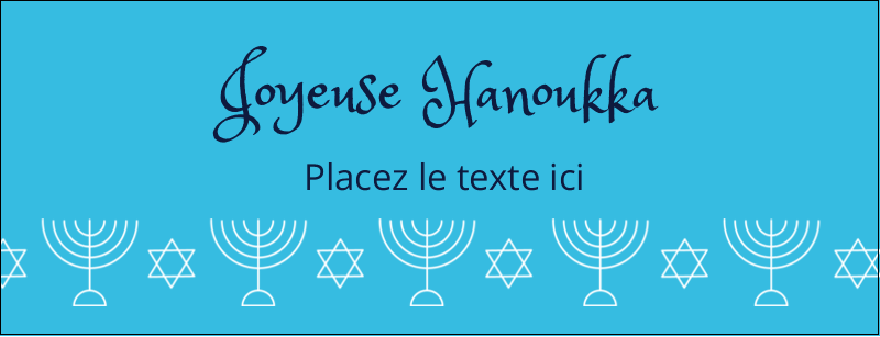 "1-7/16"" x 3¾"" Affichette - Chandelier de Hanoukka"