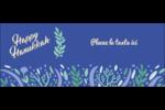 Hanoukka florale Affichette - gabarit prédéfini. <br/>Utilisez notre logiciel Avery Design & Print Online pour personnaliser facilement la conception.