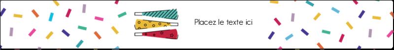 Les gabarits Trompettes pour votre prochain projet des Fêtes Étiquettes enveloppantes - gabarit prédéfini. <br/>Utilisez notre logiciel Avery Design & Print Online pour personnaliser facilement la conception.