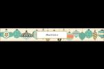 Motif de décorations Étiquettes enveloppantes - gabarit prédéfini. <br/>Utilisez notre logiciel Avery Design & Print Online pour personnaliser facilement la conception.