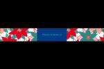 Les gabarits Poinsettia pour votre prochain projet des Fêtes Étiquettes enveloppantes - gabarit prédéfini. <br/>Utilisez notre logiciel Avery Design & Print Online pour personnaliser facilement la conception.