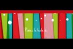 Rayures de Noël rétro Affichette - gabarit prédéfini. <br/>Utilisez notre logiciel Avery Design & Print Online pour personnaliser facilement la conception.