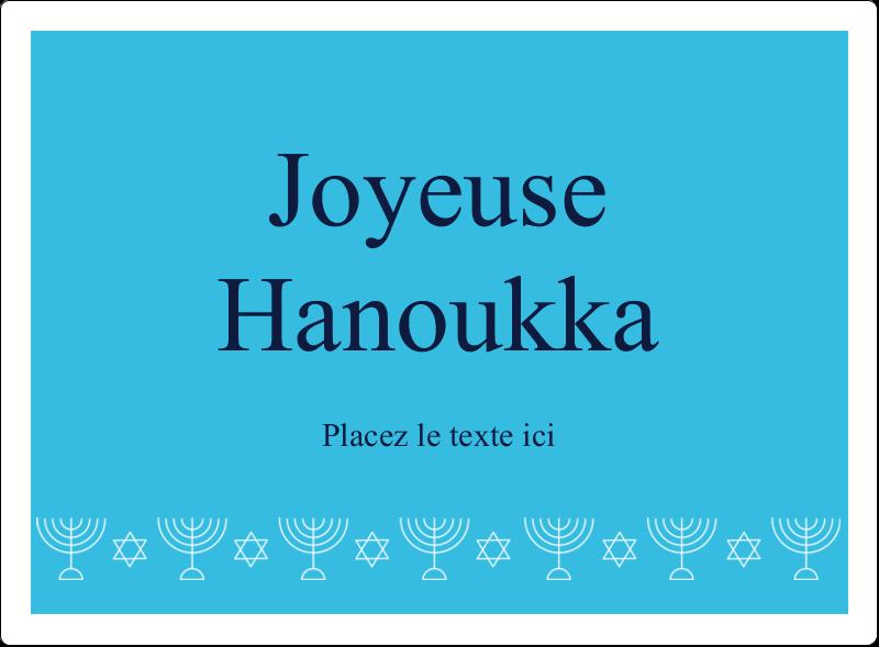 """4¾"""" x 3½"""" Étiquettes rectangulaires - Chandelier de Hanoukka"""