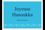 Chandelier de Hanoukka Étiquettes rectangulaires - gabarit prédéfini. <br/>Utilisez notre logiciel Avery Design & Print Online pour personnaliser facilement la conception.