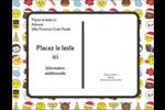Émojis des Fêtes Carte Postale - gabarit prédéfini. <br/>Utilisez notre logiciel Avery Design & Print Online pour personnaliser facilement la conception.
