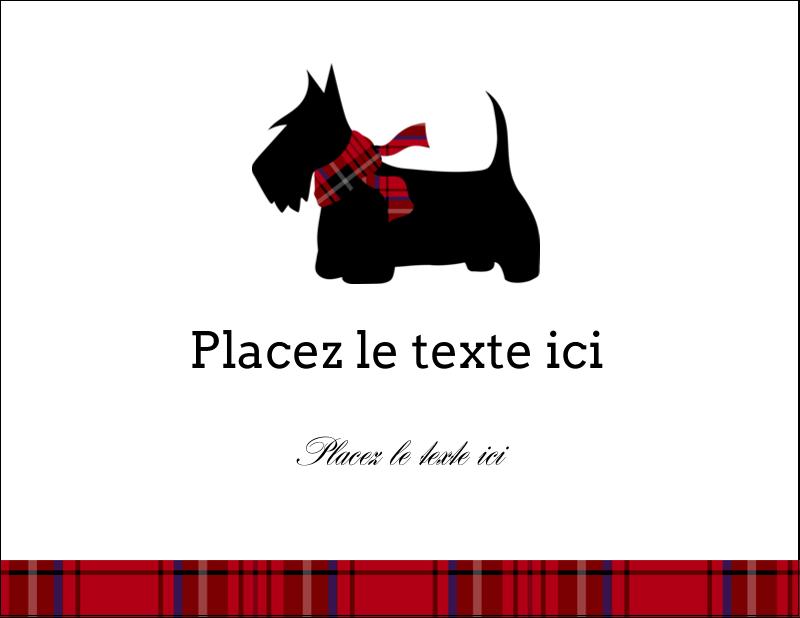 """5½"""" x 4¼"""" Carte Postale - Terrier écossais"""
