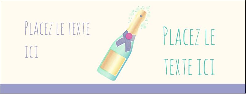 Les gabarits Bouteille de champagne pour votre prochain projet Affichette - gabarit prédéfini. <br/>Utilisez notre logiciel Avery Design & Print Online pour personnaliser facilement la conception.