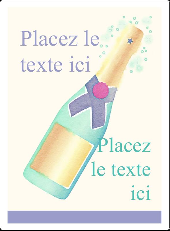Les gabarits Bouteille de champagne pour votre prochain projet Étiquettes rectangulaires - gabarit prédéfini. <br/>Utilisez notre logiciel Avery Design & Print Online pour personnaliser facilement la conception.
