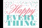 Les gabarits Happy Everything pour votre prochain projet Carte Postale - gabarit prédéfini. <br/>Utilisez notre logiciel Avery Design & Print Online pour personnaliser facilement la conception.