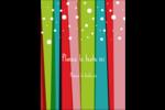 Rayures de Noël rétro Carte Postale - gabarit prédéfini. <br/>Utilisez notre logiciel Avery Design & Print Online pour personnaliser facilement la conception.