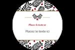 Fleurs de Noël Étiquettes rondes - gabarit prédéfini. <br/>Utilisez notre logiciel Avery Design & Print Online pour personnaliser facilement la conception.