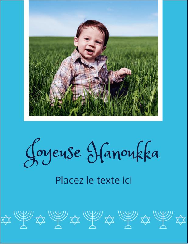 """5½"""" x 4¼"""" Carte Postale - Chandelier de Hanoukka"""