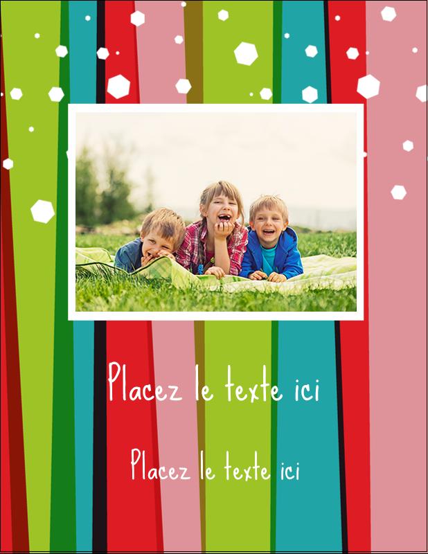 """5½"""" x 4¼"""" Carte Postale - Rayures de Noël rétro"""