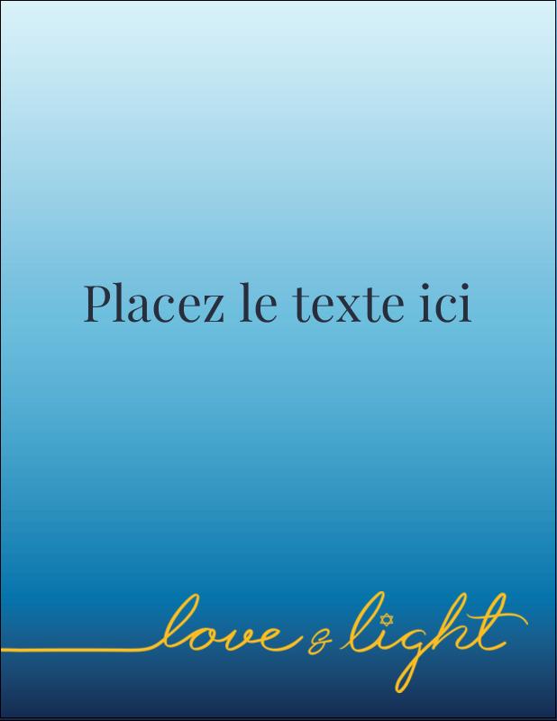 "5½"" x 4¼"" Carte Postale - Hanoukka minimaliste"