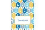 Toupie de Hanoukka Carte Postale - gabarit prédéfini. <br/>Utilisez notre logiciel Avery Design & Print Online pour personnaliser facilement la conception.