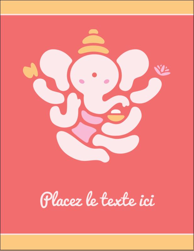 "5½"" x 4¼"" Carte Postale - Ganesh Divali"