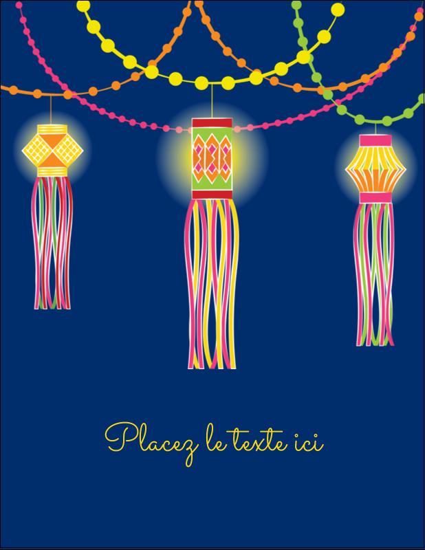 "5½"" x 4¼"" Carte Postale - Lanternes Divali"