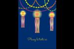 Lanternes Divali Carte Postale - gabarit prédéfini. <br/>Utilisez notre logiciel Avery Design & Print Online pour personnaliser facilement la conception.