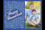 Hanoukka florale Carte Postale - gabarit prédéfini. <br/>Utilisez notre logiciel Avery Design & Print Online pour personnaliser facilement la conception.