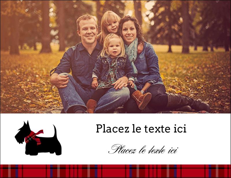 """4¼"""" X 5½"""" Carte Postale - Terrier écossais"""