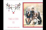 Lumières sur panache de renne Carte Postale - gabarit prédéfini. <br/>Utilisez notre logiciel Avery Design & Print Online pour personnaliser facilement la conception.