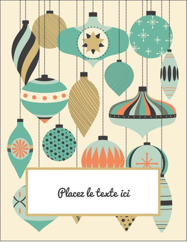 """5½"""" x 4¼"""" Carte Postale - Motif de décorations"""