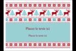 Chandail de poinsettias Étiquettes rectangulaires - gabarit prédéfini. <br/>Utilisez notre logiciel Avery Design & Print Online pour personnaliser facilement la conception.