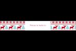 Chandail de poinsettias Étiquettes enveloppantes - gabarit prédéfini. <br/>Utilisez notre logiciel Avery Design & Print Online pour personnaliser facilement la conception.