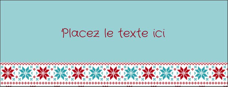 """1-7/16"""" x 3¾"""" Affichette - Chandail de poinsettias"""