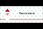 Père Noël Affichette - gabarit prédéfini. <br/>Utilisez notre logiciel Avery Design & Print Online pour personnaliser facilement la conception.