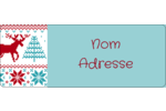 Chandail de poinsettias Étiquettes D'Adresse - gabarit prédéfini. <br/>Utilisez notre logiciel Avery Design & Print Online pour personnaliser facilement la conception.