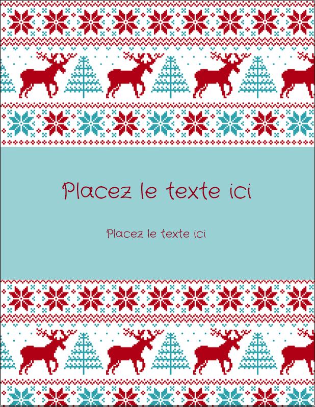 """4¼"""" X 5½"""" Carte Postale - Chandail de poinsettias"""
