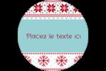 Chandail de poinsettias Étiquettes rondes - gabarit prédéfini. <br/>Utilisez notre logiciel Avery Design & Print Online pour personnaliser facilement la conception.