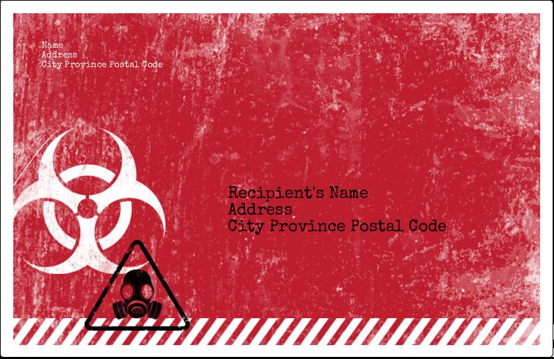 "5½"" x 8½"" Shipping Label - Halloween Zombie Apocalypse"