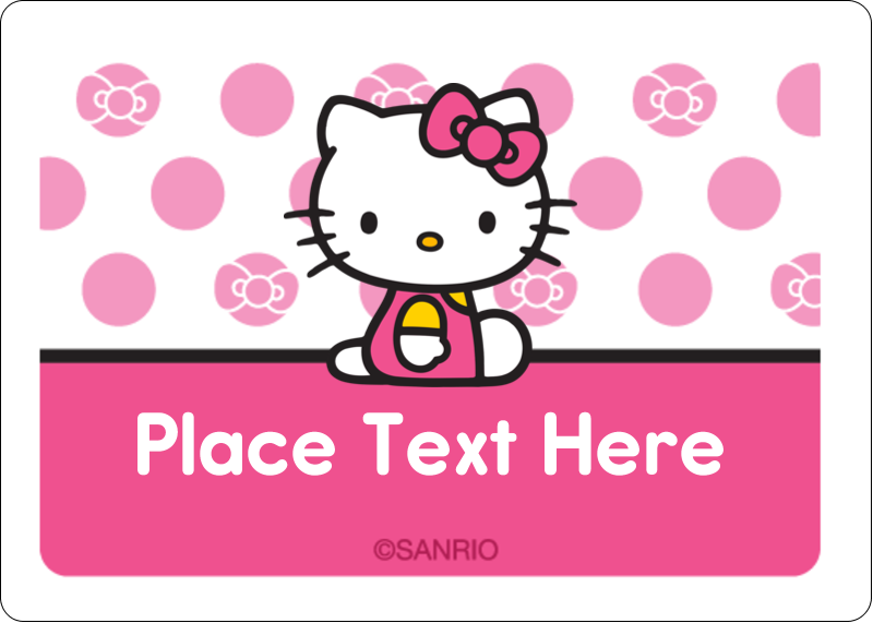 "1¾"" x 1¼"" ID Label - Pretty in Pink"