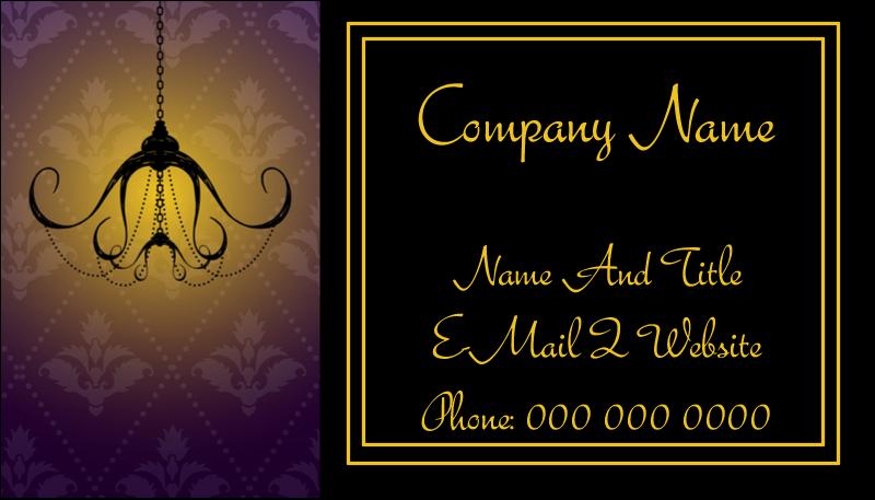 "2"" x 3½"" Business Card - Halloween Elegant Creepy Chandelier"