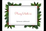 Bordure florale de Noël Étiquettes rectangulaires - gabarit prédéfini. <br/>Utilisez notre logiciel Avery Design & Print Online pour personnaliser facilement la conception.