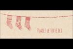 Bas de Noël suspendus Affichette - gabarit prédéfini. <br/>Utilisez notre logiciel Avery Design & Print Online pour personnaliser facilement la conception.