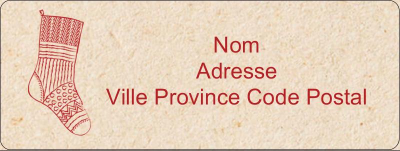 """⅔"""" x 1¾"""" Étiquettes D'Adresse - Bas de Noël suspendus"""
