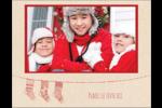 Bas de Noël suspendus Carte Postale - gabarit prédéfini. <br/>Utilisez notre logiciel Avery Design & Print Online pour personnaliser facilement la conception.