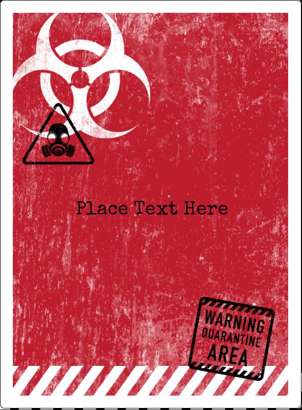"""4¾"""" x 3½"""" Rectangular Label - Halloween Zombie Apocalypse"""