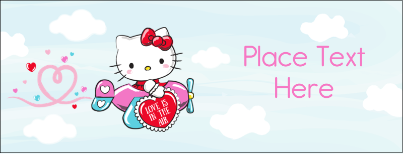 "1-7/16"" x 3¾"" Tent Card - Hello Kitty Valentine - You Make My Heart Soar"