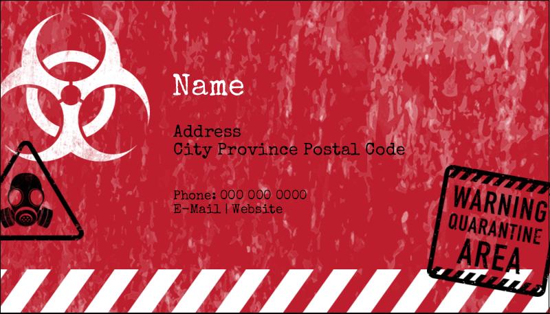 """2"""" x 3½"""" Business Card - Halloween Zombie Apocalypse"""