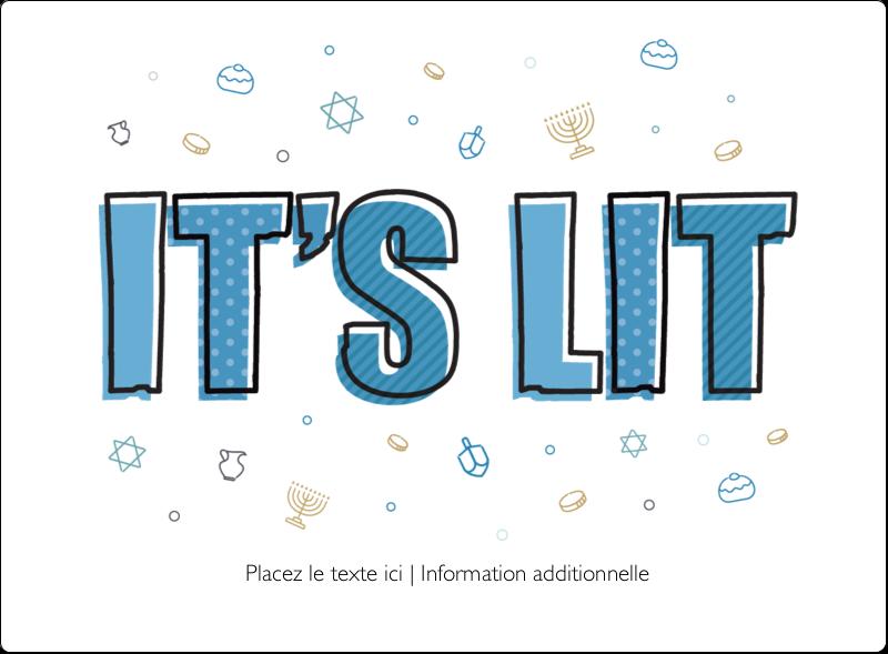 Hanoukka, la fête des Lumières Étiquettes rectangulaires - gabarit prédéfini. <br/>Utilisez notre logiciel Avery Design & Print Online pour personnaliser facilement la conception.