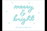 « Merry and Bright » écrit à la main Étiquettes rectangulaires - gabarit prédéfini. <br/>Utilisez notre logiciel Avery Design & Print Online pour personnaliser facilement la conception.