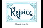 « Rejoice » écrit à la main Étiquettes rectangulaires - gabarit prédéfini. <br/>Utilisez notre logiciel Avery Design & Print Online pour personnaliser facilement la conception.