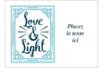 « Love and Light » écrit à la main Étiquettes rectangulaires - gabarit prédéfini. <br/>Utilisez notre logiciel Avery Design & Print Online pour personnaliser facilement la conception.